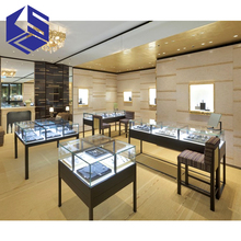 shopping mall jewelry shop showcase design with led lights