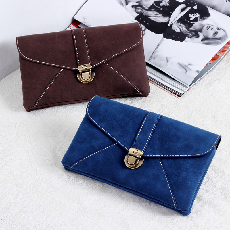 Women's Vintage Nubuck Leather Small Messenger Bag For Women, Suede Leather Small Black Clutch Wallet Envelope Bag
