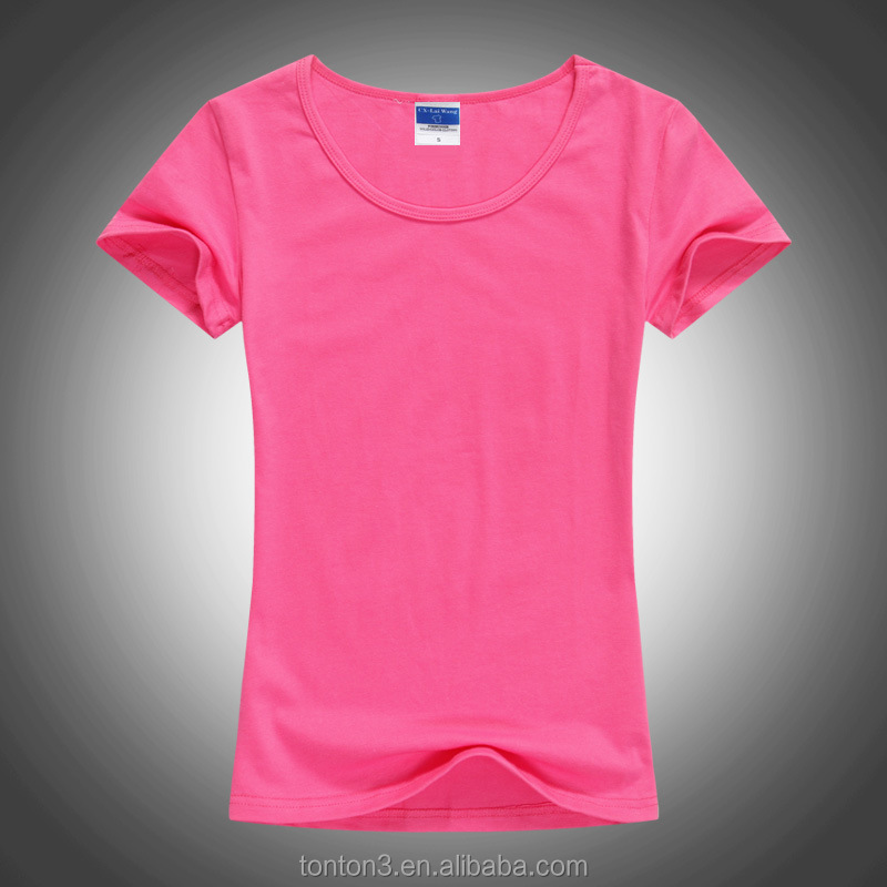 High Quality Short Sleeve Your Own Design womens t shirts