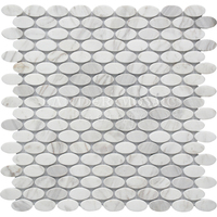 New Design White Volakos Stone Mosaic
