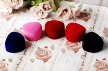 Mini Cute Red Carrying Cases Heart Shaped Ring Box For Rings Hot Sale Display Box Jewelry Packaging Red