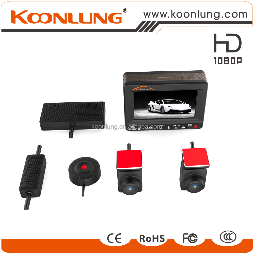KOONLUNG popular model K1S 2 channel car DVR with GPS speedcam