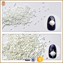 1440/bag 720/bag 144/bag Pure Semi-circular White AB Flat Resin Pearl 3D Nail Art Decoration