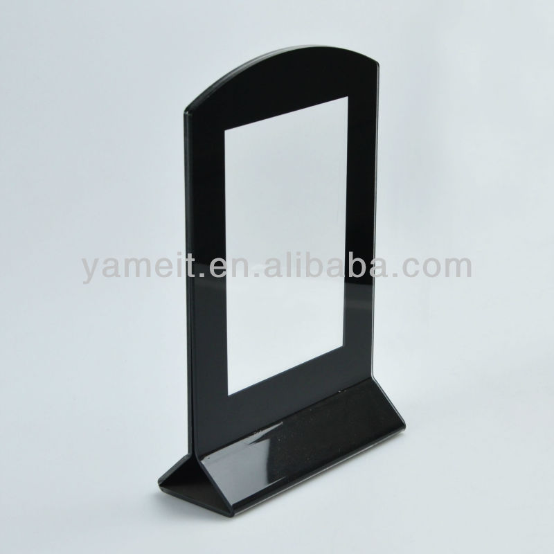 Black acrylique table stand menu holder