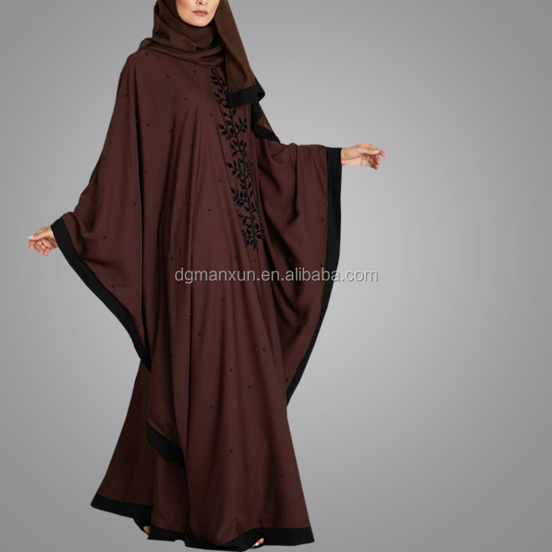 New Style Machine Embroidery Dresses kaftan Long Sleeve Islamic Women Clothing Moroccan Style Latest Design Caftan Abaya dress