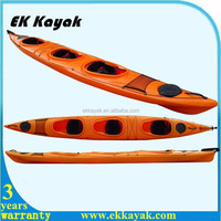 Stable speedy 3 person ocean kayak for family