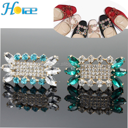 high quality lady rhinestone shoe accessories buckle glass shoe buckles Shoe Clips Decoration