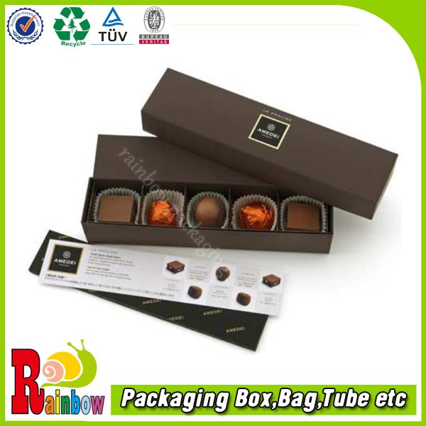 customized luxury high end chocolate box with cushion pads