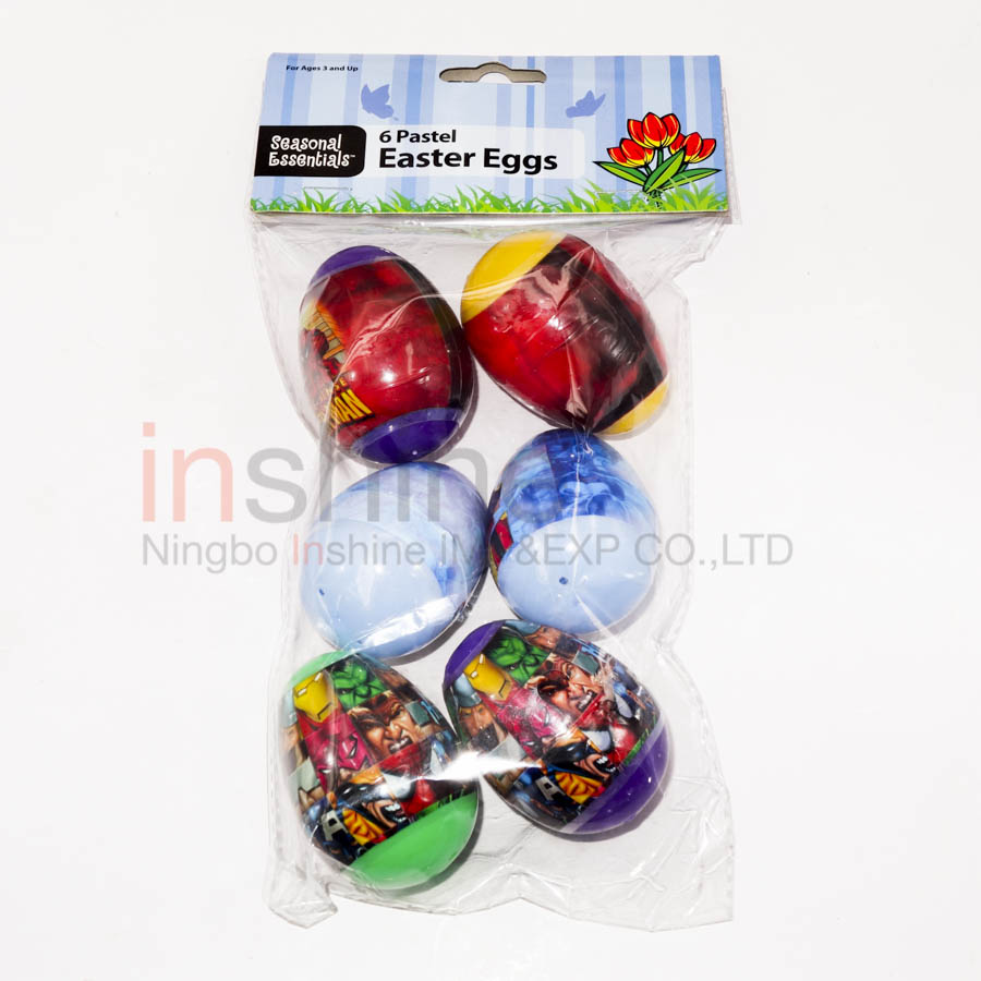 IN53438 6 Pastel easter eggs , plastic egg , easter holiday gift