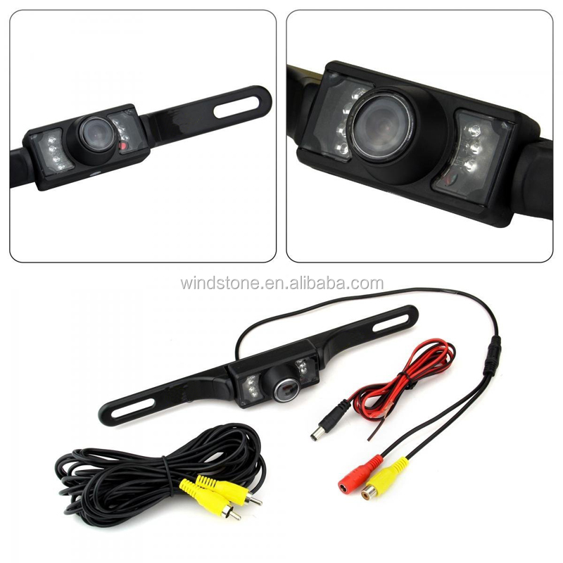4.3 LCD Rear View Monitor License Plate Car Rear Backup Camera and Monitor Kit For Car,Universal Waterproof Rear-view