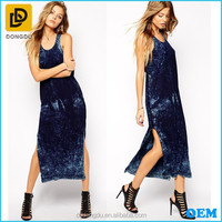 Wholesale Maxi Dress Women velvet silk long dress 2017