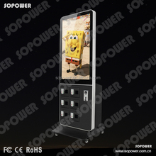 customized logo Android Network lockable Cell Phone Charging Station Kiosk