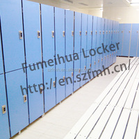 Compact hpl board lockers room shelfs