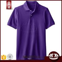 OEM export clothes made in china plain dyed environmental polo T shirt