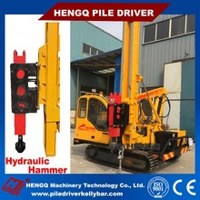 Small soalr pile driving machine for Road Construction
