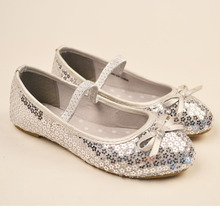 Spring Flower Glitter Girls Ballet Shoes Sparkling Sequins Children Girls Fancy Ballerinas Elastic Bling Kids Flats Shoes