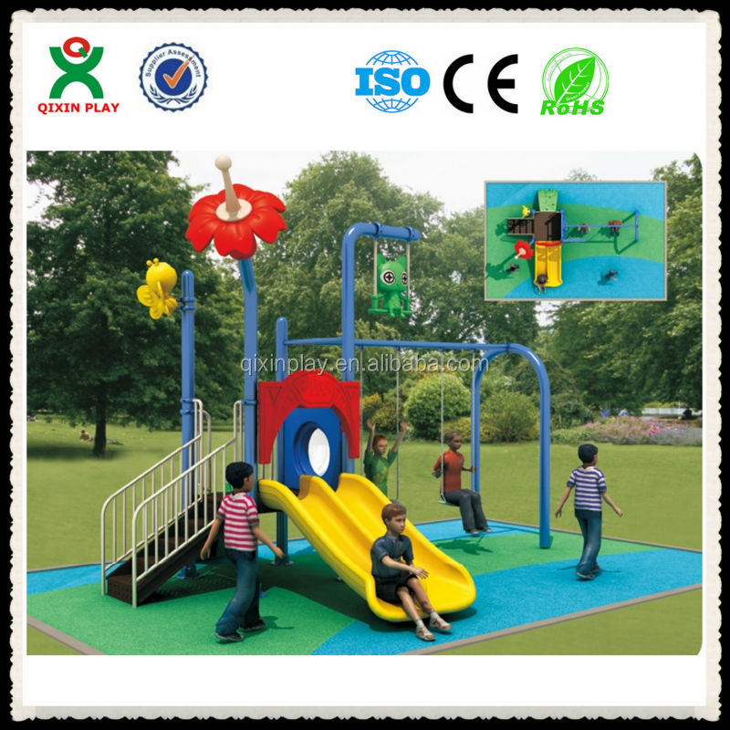 plastic swing and slide set swings and childrens slides plastic swing and slide QX-102A