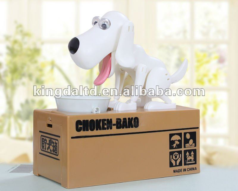 Fanny Hot Selling Large Plastic Dog Bank Coin