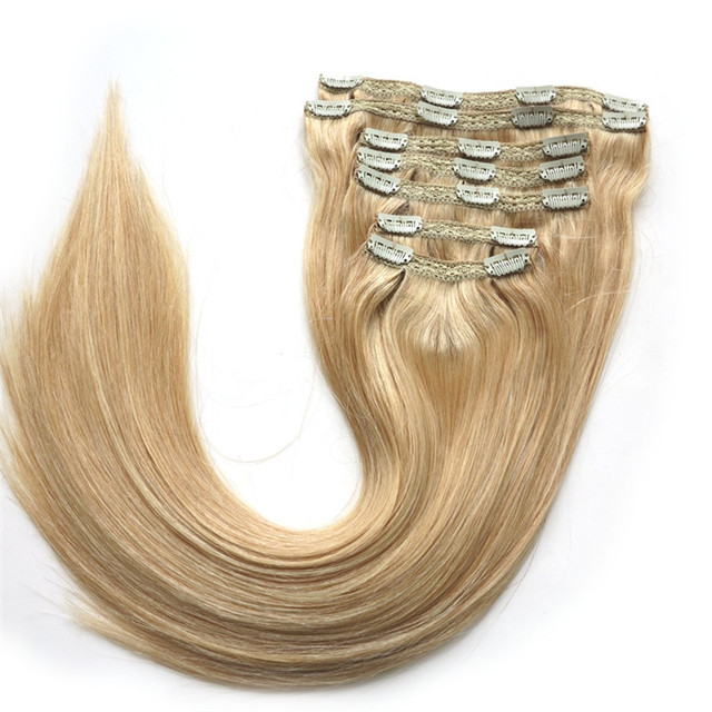 Wholesale uk virgin hair best quality clip in human hair extensions 160g hot sales affordable clip in hair extensions