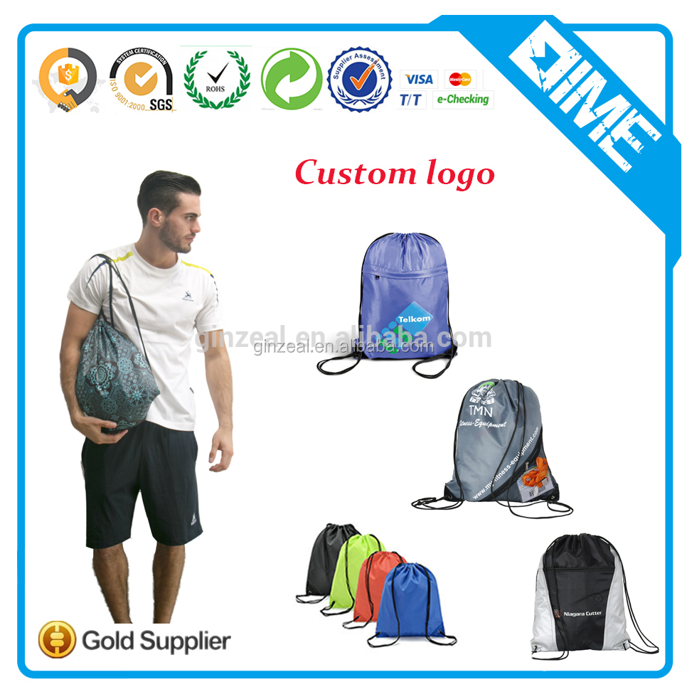 Should Backpack Custom Polyester Drawstring Bag