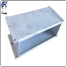 Aluminum transformer box precision made with sand blasting