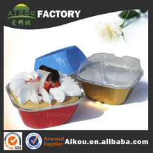 Eco-friendly recycle material aluminum health snack bowl
