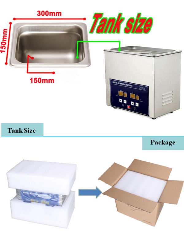 6.5L digital heated ultrasonic cleaner PS-30A ultrasonic wave machine