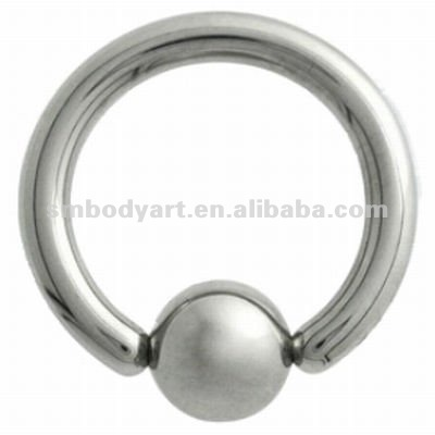 Surgical Steel Ball Closure Ring wholesale cheap piercing body jewelry-SMCR008