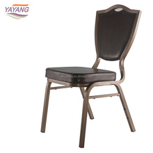 Hotel lounge stainless steel modern church chairs black dining chair for sale