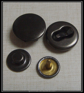 4 parts 6 prongs metal ring pearl snap buttons
