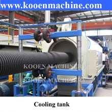 HDPE PE PP PVC double wall corrugated pipe hose production making machine line