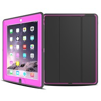 Leather Tablet Strong Case Shock Proof Tablet Cover for iPad 2 Smart Case