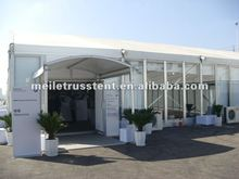 clear marquee with AC exhibition tent with walkways
