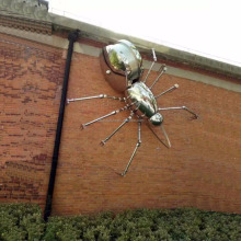 Spider Statues Stainless Steel New Insect Products Sculpture Outdoor Decor