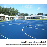Acrylic resin liquid coating for synthetic badmintn court flooring