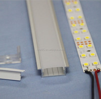 Wide recessed aluminum LED profile,20mm wide,suitable for 20MM wide double row flexible LED strips, milky/transparent cover