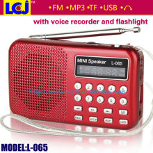 2015 hot usb voice recorder with fm radio mp3 player