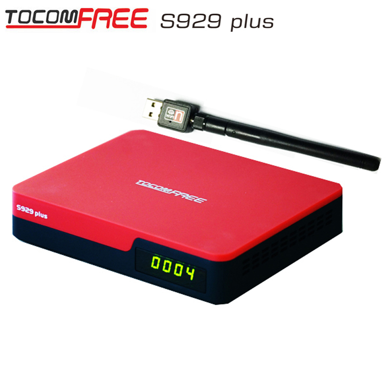 Receptor iks sks Tocomfree S929 plus for Latin America wifi 3G iptv function tocom free s929 hd better than az america s1005