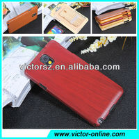 for samsung galaxy note 3 N9000 red wood grain hard shell cover