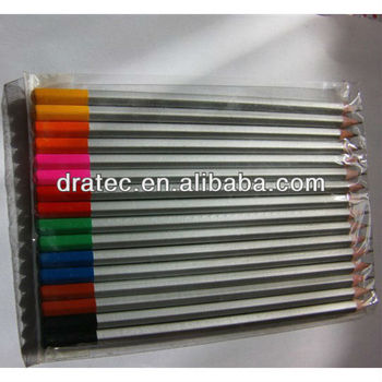 "7"" high quality color pencil,with dip, wooden pencil"
