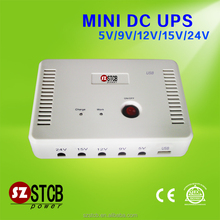 MINI DC UPS 5V 9V 12V 24V ACCEPT 110V 220V INPUT VOLTAGE