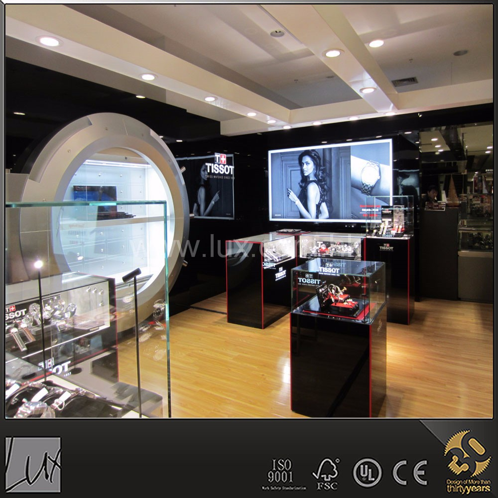 Hot black stylish retail shop interior design and fitting