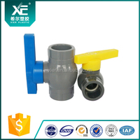 PVC compact ball valve(new style) pvc/abs/pp handle