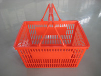 Red Color Shopping Baskets Supermarket Store Grocery Store Basket Bin Wholesale