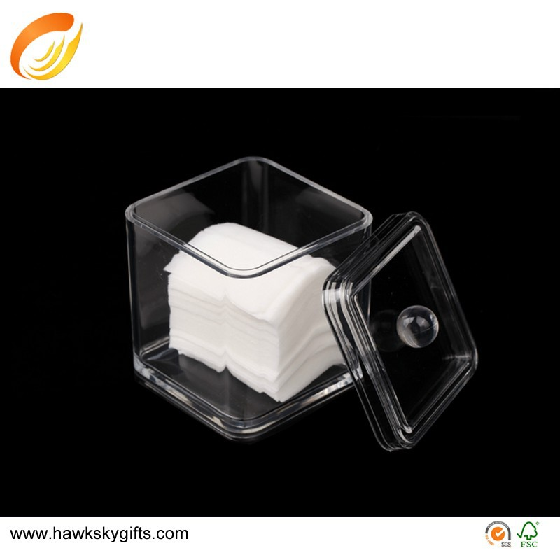 Square little tinny acrylic cube box for storage tinny parts