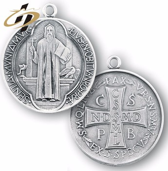 Custom metal made catholic medals