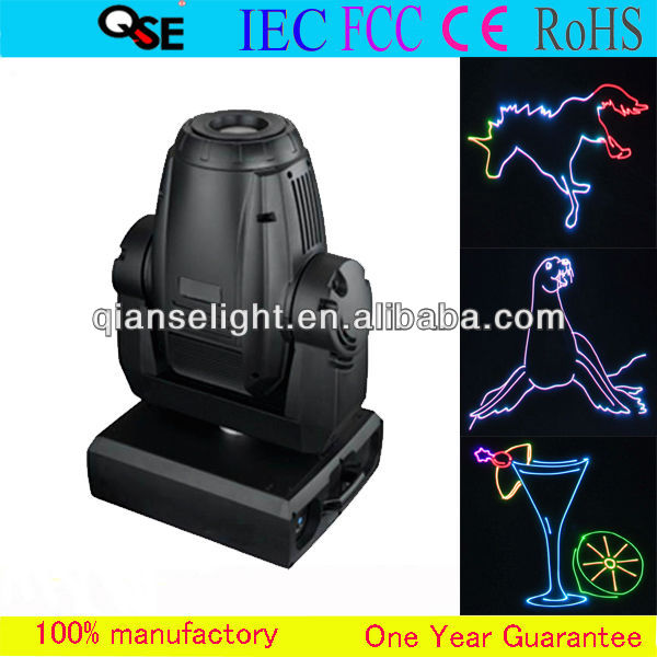 1W Full Color RGB Animation Moving Head Laser
