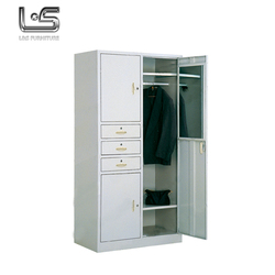 3 door metal steel wardrobe godrej almirah designs with cheap price