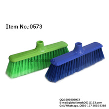 HQ0573 plastic China black dollars cleaning high quality PP straight broom with long bristle
