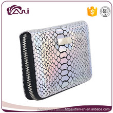 wallets ladies,fish skin shinning pu leather purse for women